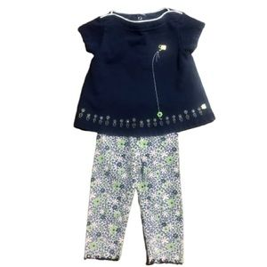 GYMBOREE Spring Flowers Leggings Outfit 2002